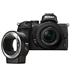 Nikon Z50 Body zwart + FTZ Adapter + 16-50mm f/3.5-6.3 VR