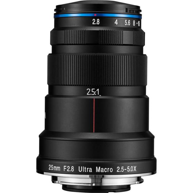 Venus Laowa 25mm f/2.8 2.5-5x ultra-macrolens, Canon EF