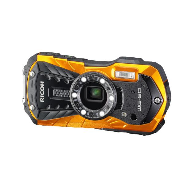 Ricoh WG-50 waterproof compactcamera oranje