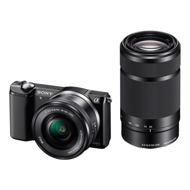 Sony A5100 zwart + 16-50mm + 55-210mm