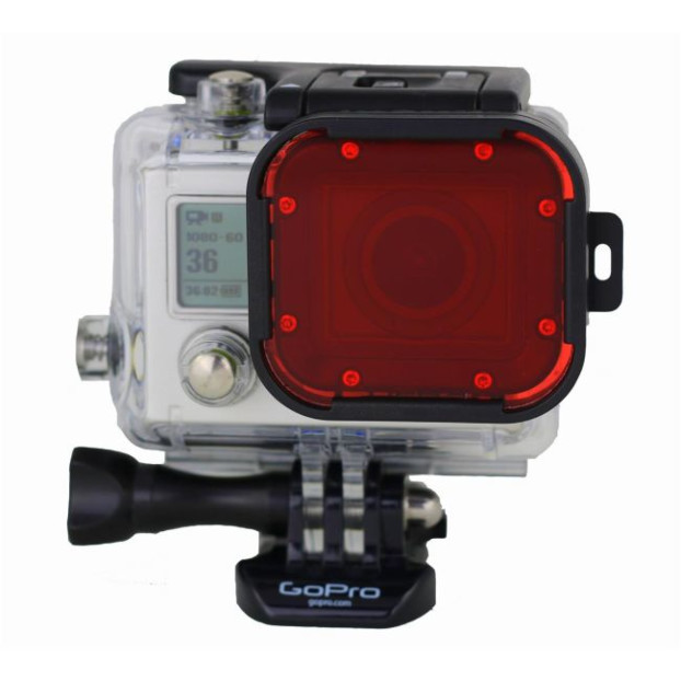 Polar Pro Aqua Red Filter for GoPro dive housing 60m