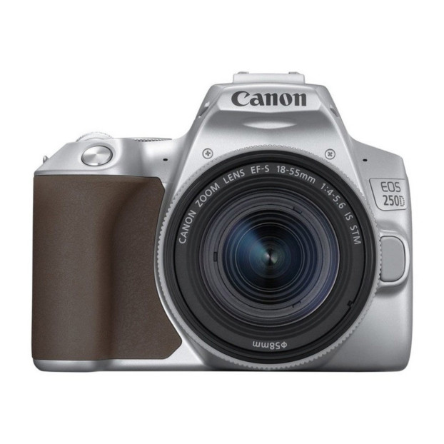 Canon EOS 250D Body Zilver + 18-55mm IS STM Zilver