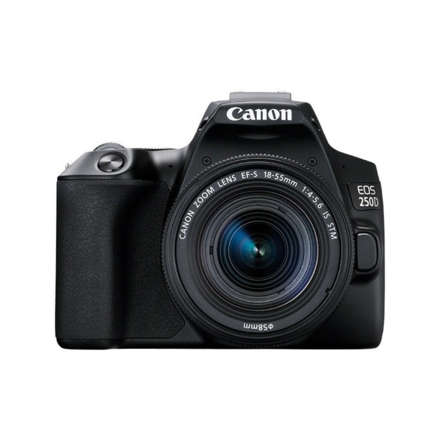 Canon EOS 250D Body Zwart + 18-55mm IS STM Zwart