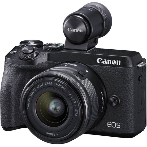 Canon EOS M6 mark II + 15-45mm f/3.5-6.3 IS STM + EVF-DC2