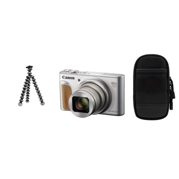 Canon Powershot SX740 HS zilver Travel kit