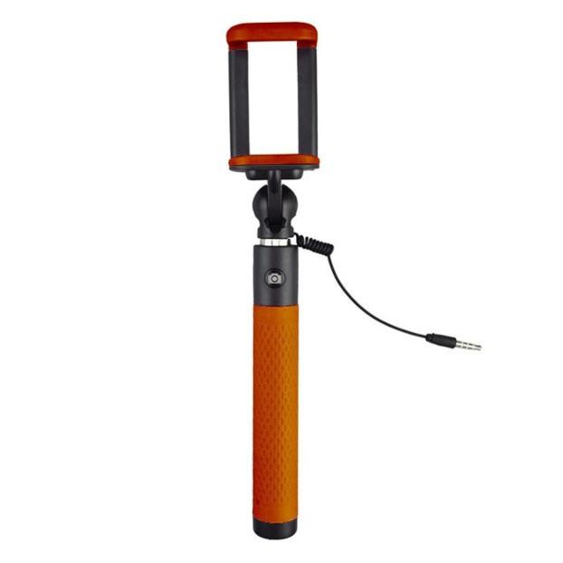 Caruba Selfie Stick Plug & Play   Orange