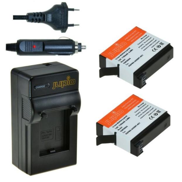 Jupio 2x Battery AHDBT-401 + Charger