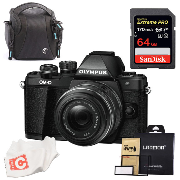 Olympus OM-D E-M10 mark II zwart + 14-42mm R II Superkit