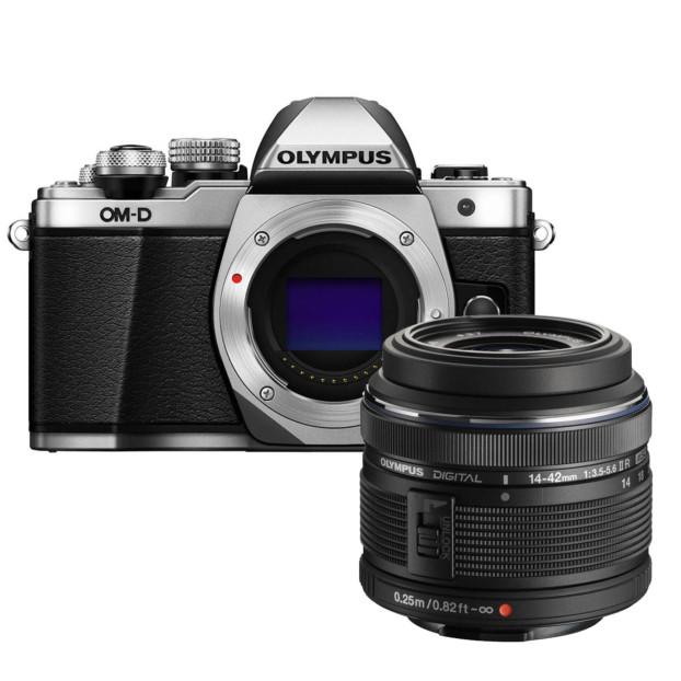 Olympus OM-D E-M10 mark II zilver + 14-42mm f/3.5-5.6 II R