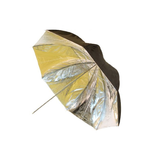 Falcon Eyes Flitsparaplu 152 cm, zilver/zwart (UR-60SB1)