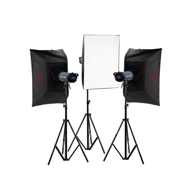 Falcon Eyes Studioflitsset TFK-3400L met LCD-scherm