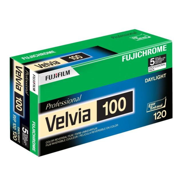 Fujifilm Velvia 100 120 5-Pak, Diafilm