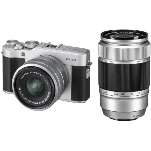 Fujifilm X-A5 Zilver + 15-45mm + 50-230mm