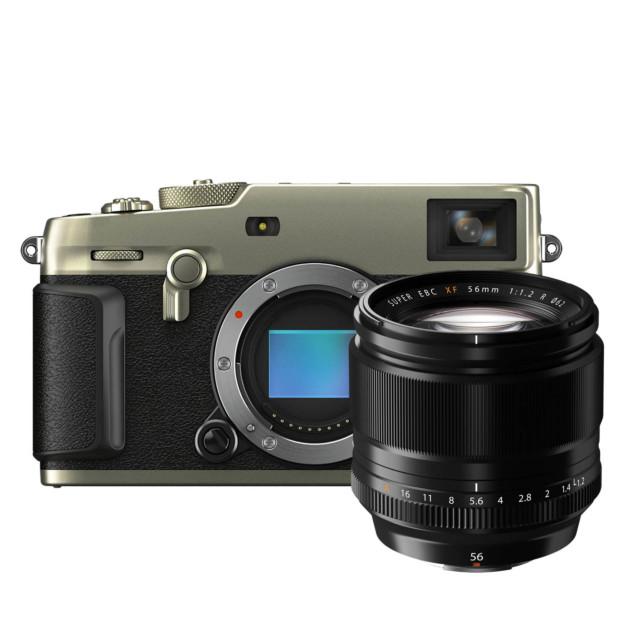 Fujifilm X-Pro3 Titan Dura zilver + XF 56mm f/1.2 R