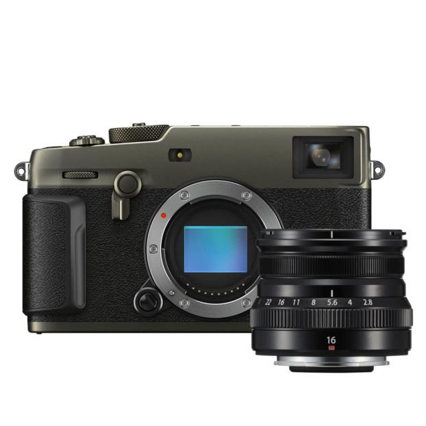 Fujifilm X-Pro3 Titan Dura zwart + XF 16mm f/2.8 R WR