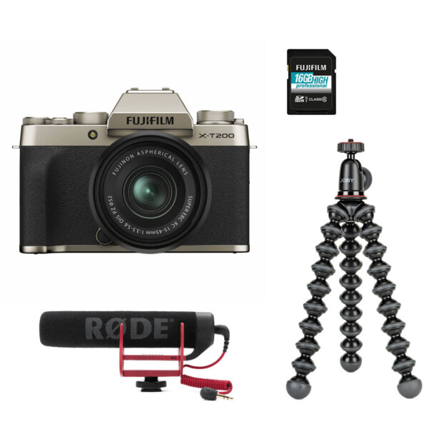 Fujifilm X-T200 Champagne Vlogger Kit