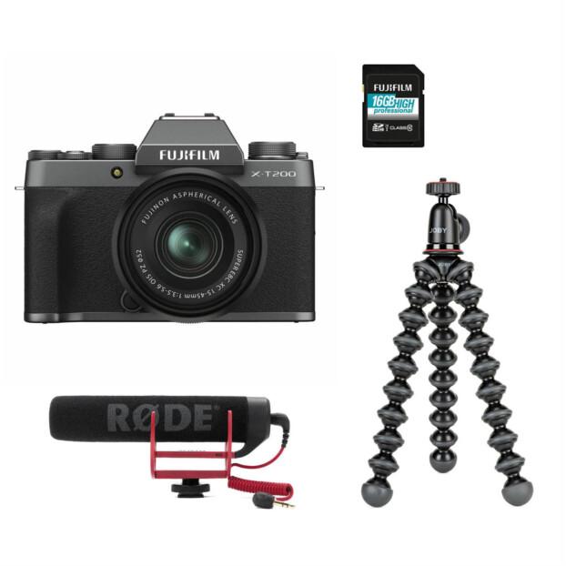 Fujifilm X-T200 Dark Silver Vloggerkit