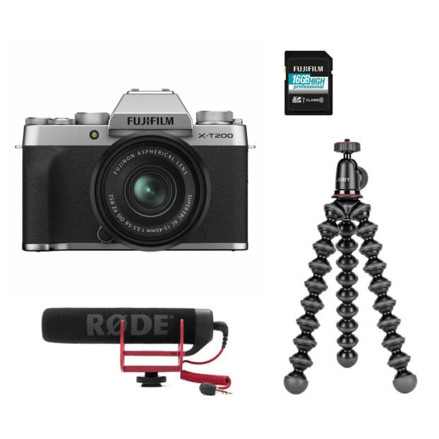 Fujifilm X-T200 Zilver Vloggerkit