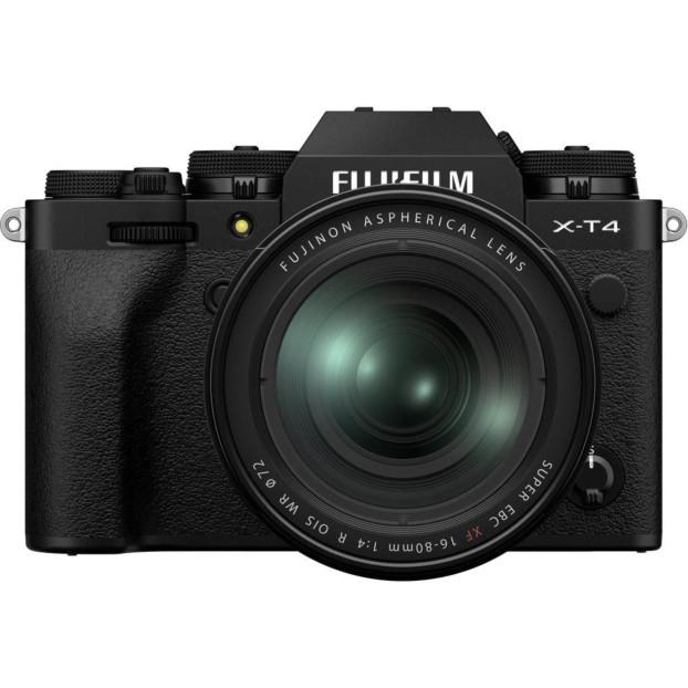 Fujifilm X-T4 zwart + 16-80mm f/4.0 R OIS WR