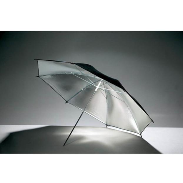 Godox Flitsparaplu 101cm, zilver / zwart