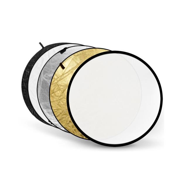 Godox 5 in 1 Reflectiescherm, goud, zilver, zwart, wit en doorschijnend, 80cm