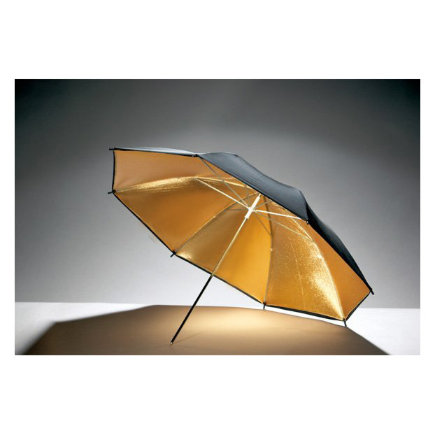 Godox Flitsparaplu 101cm, goud/zwart