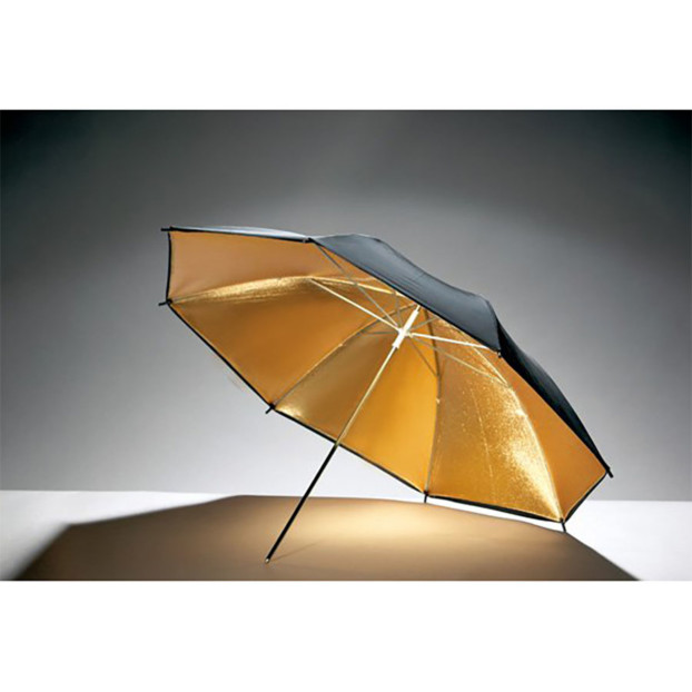 Godox Flitsparaplu 84cm, goud/zwart