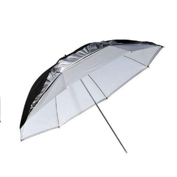 Godox Flitsparaplu 84cm, zwart/zilver/doorschijnend