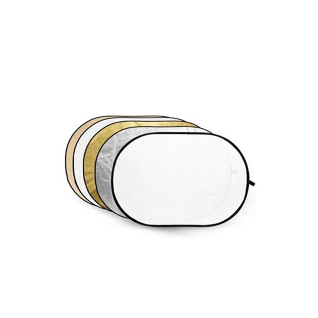 Godox Reflectiescherm 5 in 1 Gold, Silver, Soft Gold, White, Translucent 80X120cm