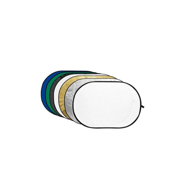 Godox Reflectiescherm 7 in 1 Gold, Silver, Black, White, Translucent, Blue, Green 120X180cm