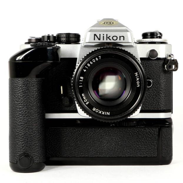 Nikon FE2 + 50mm F1.8 + Motordrive Occasion 9659