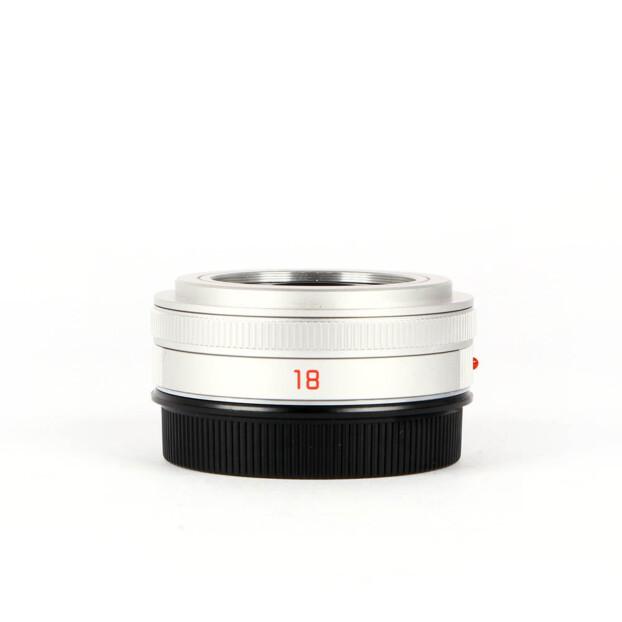 Leica Elmarit-TL 18mm f2.8 ASPH L-mount Zilver Occasion 6423