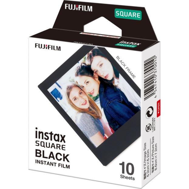 Fujifilm Instax Square Film Black Frame (1-pak)