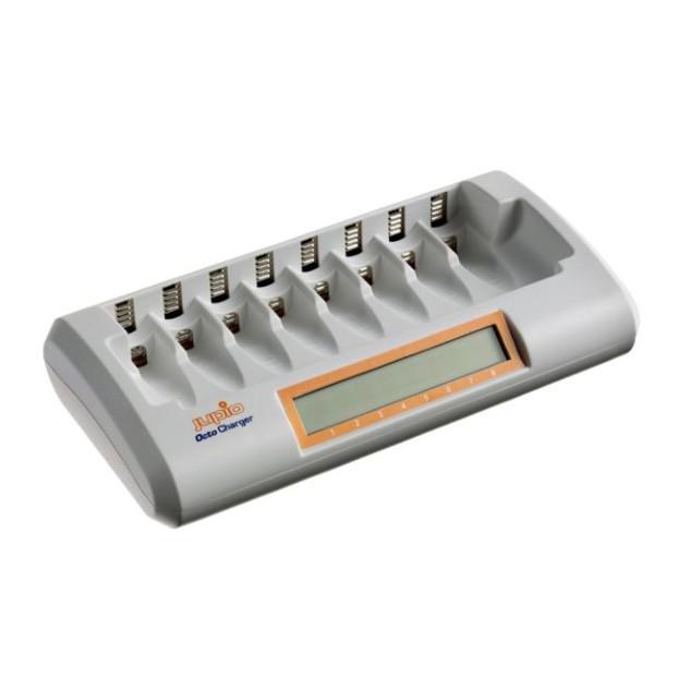 Jupio Octo Charger (tot 8x AA/AAA batterijen) zonder batterijen