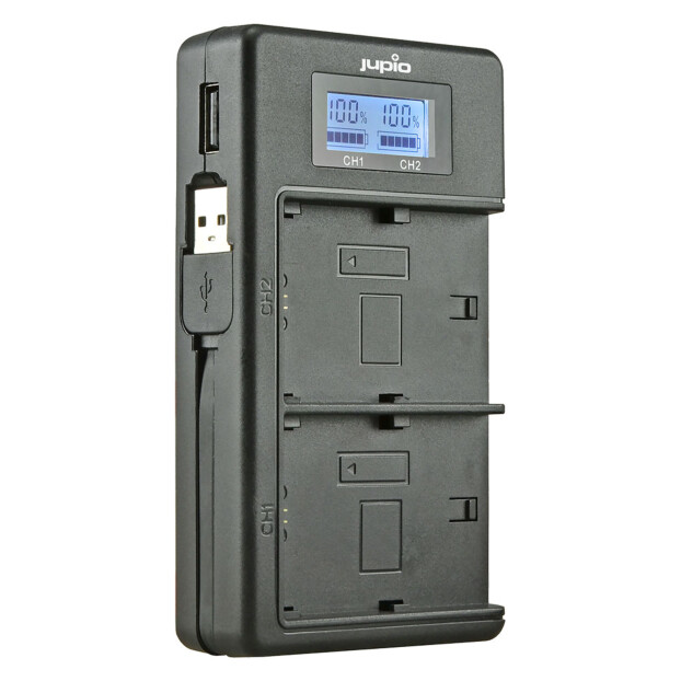 Jupio NP-W126(S) USB Duo Lader