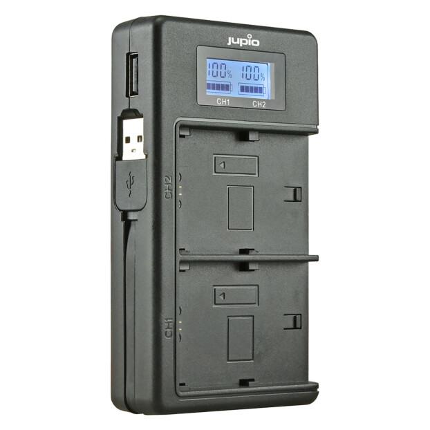 Jupio NP-FH50/FH70/FH100/FV50/FV70/FV100 USB Duo Lader