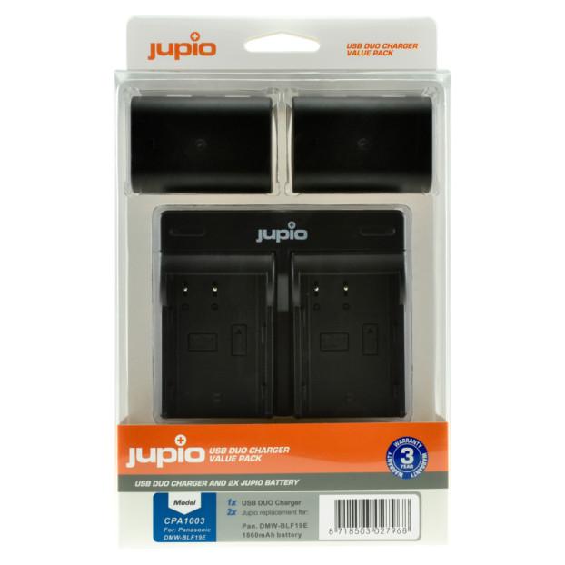 Jupio Kit: 2x Battery DMW-BLF19E 1860mAh + USB Dual Charger CPA1003
