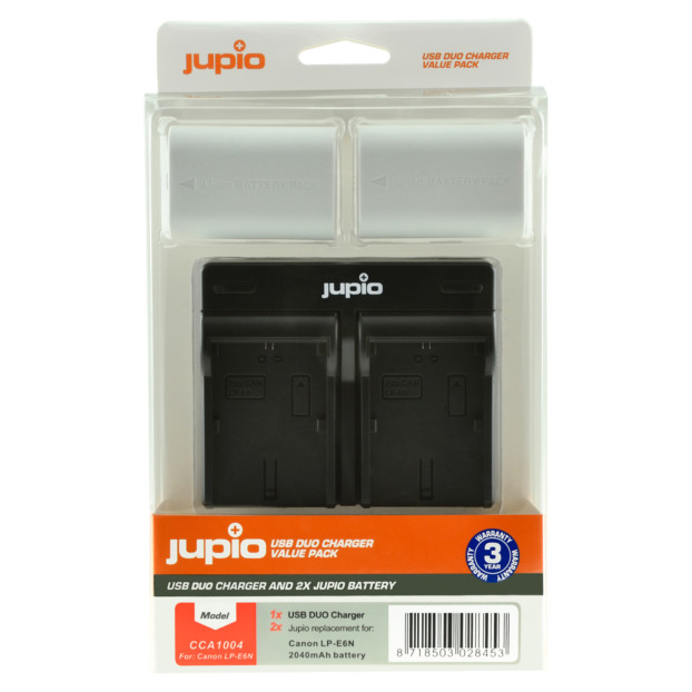Jupio Kit: 2x Battery LP-E6N *ULTRA* 2040mAh + USB Dual Charger CCA1004