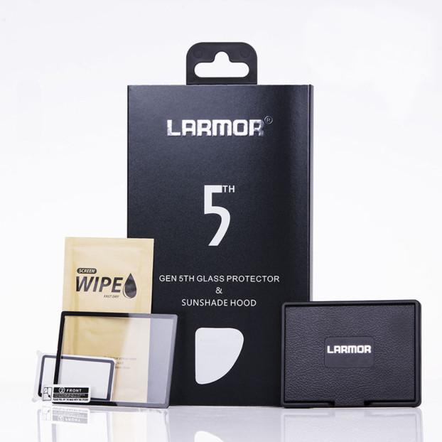 Larmor 5th Gen Screen Protector + Sun Hood voor Nikon D850