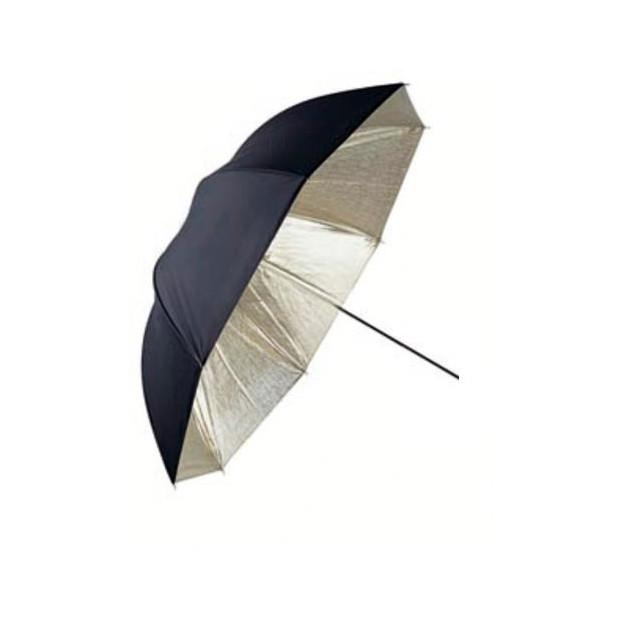 Linkstar Flitsparaplu 120 cm, goud/zwart (PUR-102GB)