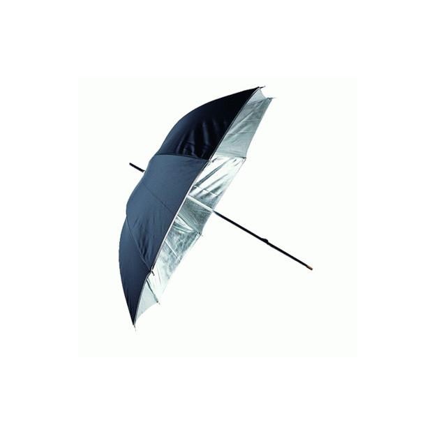 Linkstar Flitsparaplu 120 cm, zilver/zwart (PUR-102SB)
