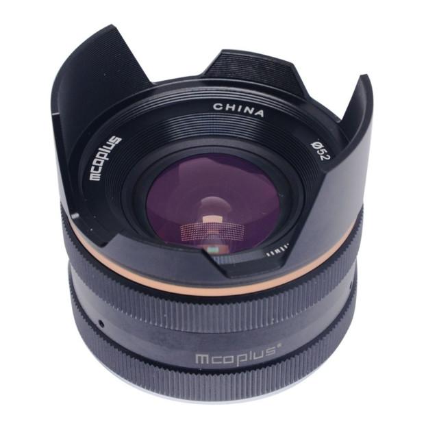 McoPlus MCO14mm F/3.5 Fujifilm Zwart