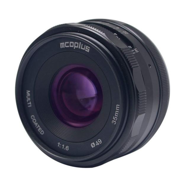 McoPlus MCO35mm F/1.6 Olympus/Panasonic Zwart