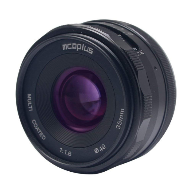 McoPlus MCO35mm F/1.6 Fujifilm Zwart