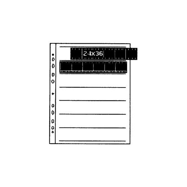 Kaiser Negatiefbladen 35mm  25st 7 stroken van 6 Pergamijn