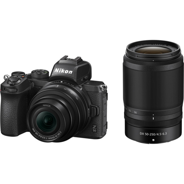 Nikon Z50 Body zwart + 16-50mm f/3.5-6.3 VR + 50-250mm f/4.5-6.3