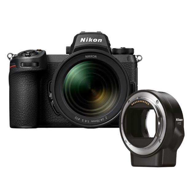 Nikon Z6 II + 24-70mm f/4.0 S + FTZ adapter