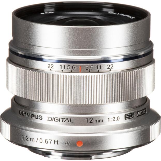 Olympus M.Zuiko Digital ED 12mm f/2.0 zilver