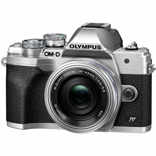 Olympus OM-D E-M10 Mark IV zilver + 14-42mm F3.5-5.6 EZ