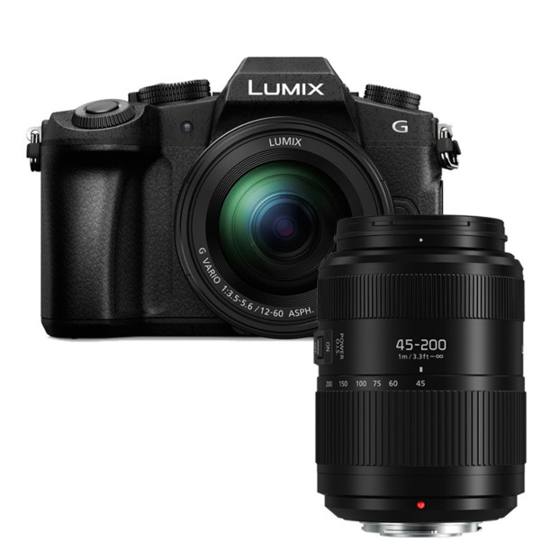 Panasonic LUMIX DMC-G80 zwart + 12-60mm + 45-200mm